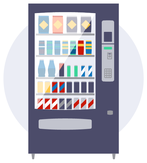 Premium vending machines icon