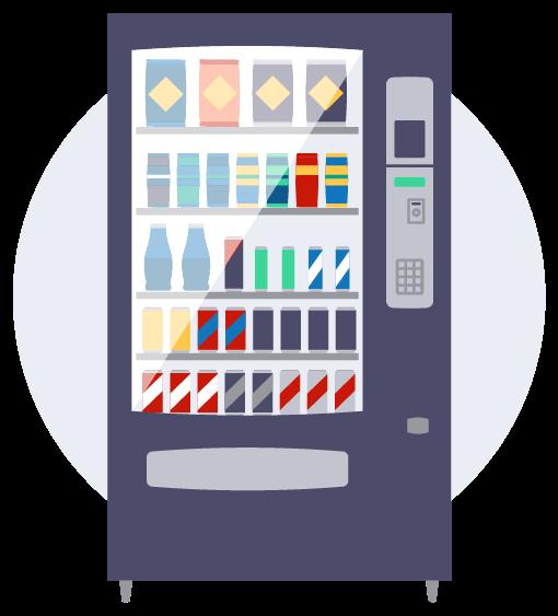 Premium vending machines icon